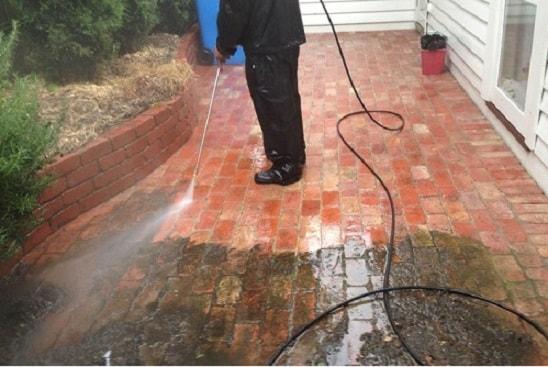 residential brick pressure washing